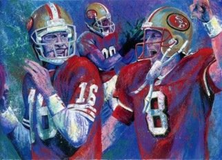 Bill Lopa; 49er Legends, 2017, Original Printmaking Giclee, 40 x 30 inches. Artwork description: 241 The San Francisco 49er Legends ...