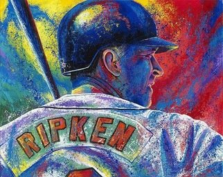 Bill Lopa; Cal Ripken, 2017, Original Printmaking Giclee, 40 x 30 inches. Artwork description: 241 All Ripken...