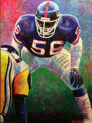 Bill Lopa; Lawrence Taylor, 2017, Original Printmaking Giclee, 30 x 40 inches. Artwork description: 241 Lawrence Taylor New York Giants ...