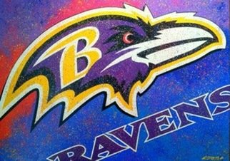 Bill Lopa; Baltimore Ravens Team Logo, 2017, Original Printmaking Giclee, 40 x 30 inches. Artwork description: 241 Baltimore Ravens Team Logo...