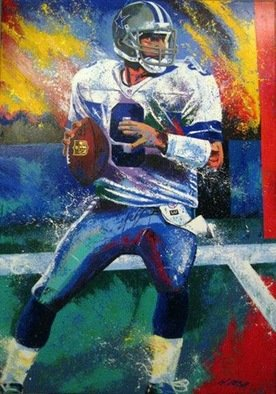 Bill Lopa; Tony Romo, 2017, Original Printmaking Giclee, 30 x 40 inches. Artwork description: 241 Tony Romo Dallas Cowboys Quarterback ...