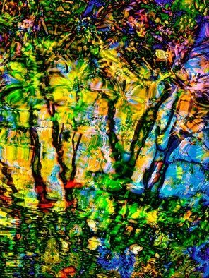 Bruce Lewis; Scotts Pond, 2019, Original Photography Digital, 15 x 20 inches. Artwork description: 241 From the abstract Impressionism series.  ScottaEURtms Pond finds all the hidden colors and then pushes them to the limit.  Limited edition of 10. ...