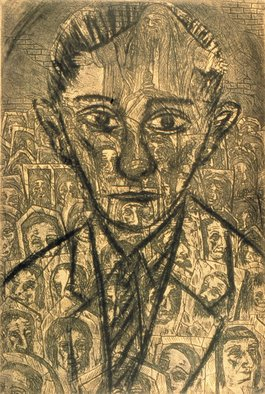 Bert Menco; Golem, 1988, Original Printmaking Etching, 12 x 18 inches.