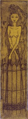 Bert Menco; Menagerie, 2005, Original Printmaking Other, 3 x 12 inches. Artwork description: 241   A woman in a zoo   ...
