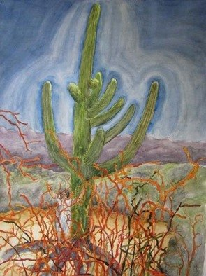 Bob Dreier; Desert Energy, 2009, Original Watercolor, 18 x 24 inches.
