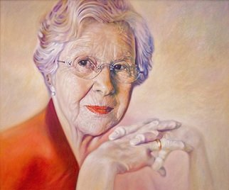 Bodo Gsedl; The Beauty And Grace Of B..., 2007, Original Painting Oil, 120 x 100 cm. Artwork description: 241  Portrait of Inge, my aunt ...