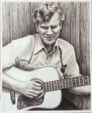 Bonie Bolen; Doc Watson, Small Print, 2016, Original Drawing Pencil, 8.5 x 11 inches. Artwork description: 241 Original drawing from a photographers view. Original not for sale but this photo shows the prints that are available. Thank you....