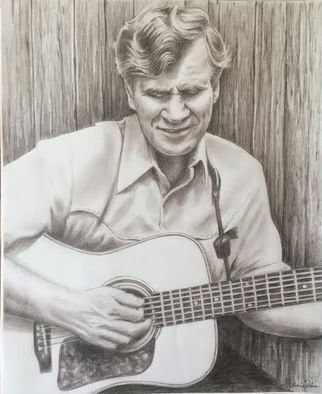 Bonie Bolen; Doc Watson, 2016, Original Drawing Pencil, 14 x 17 inches. Artwork description: 241   Original drawing from a photographers view. Original not for sale but this photo shows prints I have that are available. Thank you.  ...