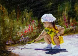 Migdalia Caban; Proverbs 22:6  1M, 2009, Original Painting Oil, 3.5 x 2.5 inches.