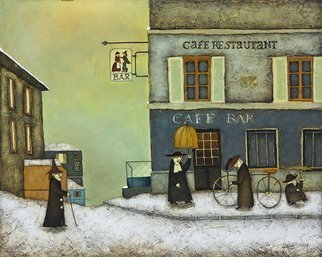 Steven Lamb, 'CAFE IN WESTMOUNT', 2012, original Mixed Media, 30 x 24  x 1 inches.