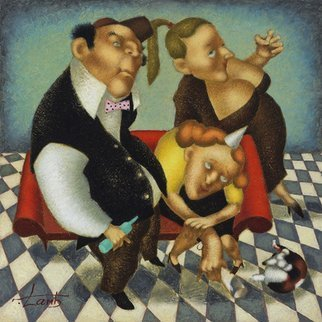 Steven Lamb, 'HAPPY FAMILY', 2014, original Mixed Media, 40 x 40  x 1 inches.