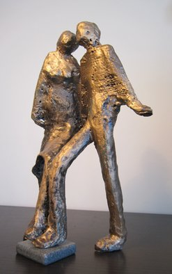 Bozena Happach; First Date, 2015, Original Sculpture Mixed, 7 x 11.5 inches. Artwork description: 241 Sculpture was created as one of projects for the Sculpture Symposium in Lac Megantic.  The requirement of the project was to create an inspiring and up- lifting sculpture.  I like to work directly in metal structure and cover it with fibreglass.  It gives me interesting texture, and ...