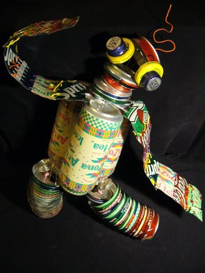 An-ti Lin; Can Robot, 2008, Original Sculpture Mixed,   inches.