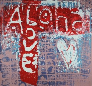 Robert Gann; Aloha Love 7, 2020, Original Printmaking Other, 10 x 10 inches. Artwork description: 241 Inspired by the culture of Hawaii. Acrylic Mud Print...