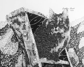 Breanna Broadie; Mcdonalds Cat, 2018, Original Calligraphy, 15 x 12 inches. Artwork description: 241 Created with the words from the nursery rhyme aEURoeOld McDonald Had a FarmaEURPart of the McDonald Collection ...