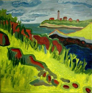 Debra Bretton Robinson; Misery Island, 2010, Original Painting Acrylic, 10 x 12 inches. Artwork description: 241   This was painted on the beach of Misery Island off the coast of Beverly, MA. The Baxter Island Light can be seen in the distance.    ...