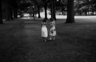 Bruce Panock; Girls In Park, 2007, Original Photography Black and White, 16 x 21 inches. Artwork description: 241  A stroll through a parkImages are pritned on archival papers with archival inks.Different sizes are available upon request.     ...