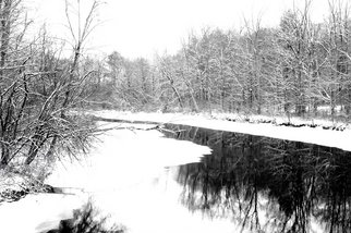 Bruce Panock; Hosatonic Winter 2009, 2009, Original Photography Black and White, 16 x 21 inches. Artwork description: 241  The isolation and quiet of winterImages are pritned on archival papers with archival inks.Different sizes are available upon request.      ...