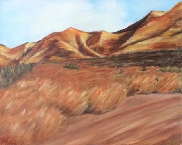 Elena Belkova; Nevada Landscape, 2005, Original Painting Oil, 20 x 16 inches. Artwork description: 241 This work has been created by impression passing through the land of Nevada. ...