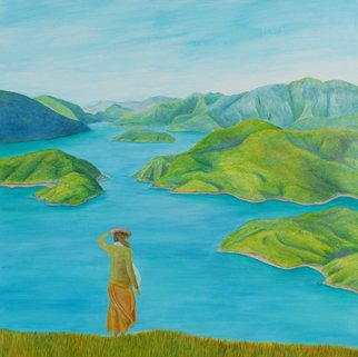 Bryce Brown; Fiord, 2015, Original Painting Acrylic, 91 x 91 cm.