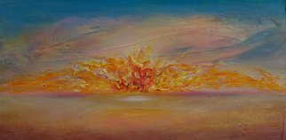 Lynne Sonenberg, 'Golden Opportunity', 2010, original Painting Acrylic, 36 x 18  x 2 inches. Artwork description: 2307   Inviting fire energy. ...