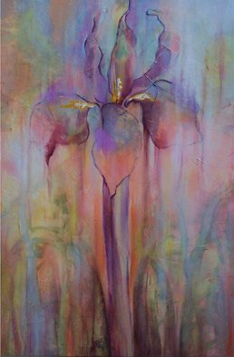 Lynne Sonenberg, 'Iris Dream', 2007, original Painting Acrylic, 40 x 60  x 2 inches. Artwork description: 2307  Coming into dreamy focus, this flower is beyond lovely.  Delicate, rich, textured, this piece invites gentle, joyous contemplation. ...
