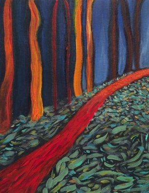 Lynne Sonenberg; Thataway, 2015, Original Painting Acrylic, 8 x 10 inches. Artwork description: 241  Follow the path thataway.  ...