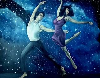 Kiran Kumar; Dancing Stars, 2018, Original Painting Oil, 80 x 60 cm. Artwork description: 241 Dancing Stars shine brighter in universe...