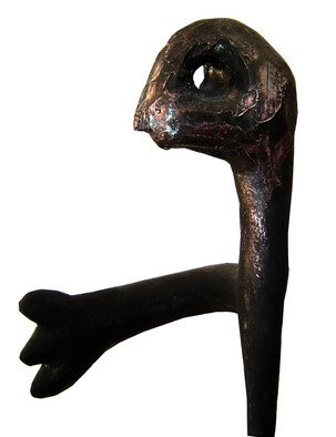 Burhan Sabir; Man, 2008, Original Sculpture Other, 80 x 150 cm. Artwork description: 241  one hand ...