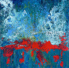 Artist: Bridget Busutil's, title: Blood River, 2003, Painting Encaustic