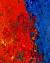 Artist: Bridget Busutil's, title: Mermaid, 2003, Painting Encaustic