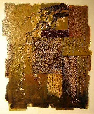 Hong Zhu; The Refined, 2007, Original Painting Acrylic, 16 x 20 inches. Artwork description: 241 The refined patterns are decorated with a hanging branch of cherry blossoms. ...