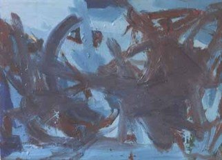 Paul Cairns; Blue Battle, 2006, Original Painting Oil, 87 x 75 inches. Artwork description: 241  This painting took over a year to complete, with as you can see the final action obliterating most of what went before. ...