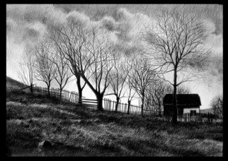 Calin Baban; Early Spring, 2020, Original Drawing Graphite, 100 x 70 cm. Artwork description: 241 NATURE BEAUTY...