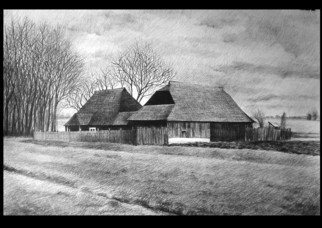 Calin Baban; Getting Dark, 2020, Original Drawing Graphite, 100 x 70 cm. Artwork description: 241 NATURE BEAUTY...