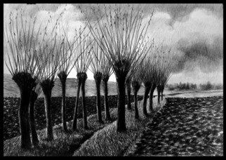 Calin Baban; To The End, 2020, Original Drawing Graphite, 100 x 70 cm. Artwork description: 241 NATURE BEAUTY...