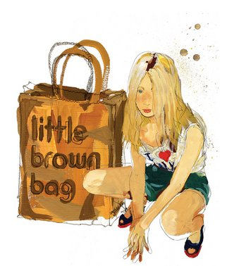 Cally Gibson; Little Brown Bag, 2008, Original Illustration, 25 x 42 inches.