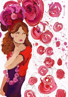 Cally Gibson; Rose, 2008, Original Illustration, 25 x 42 inches.