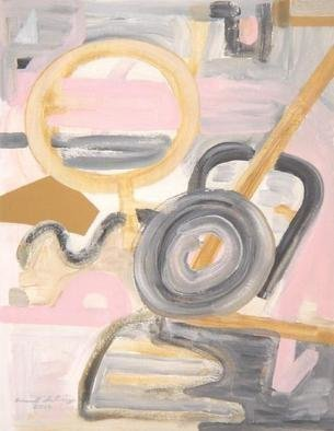Mark Schwing; Pink Abstract, 2014, Original Painting Acrylic, 8.5 x 11 inches. Artwork description: 241   Motion and play in the Modern Romantic style.                  ...