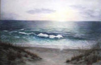 Jean Le Baron; The Chaos Beneath, 2009, Original Painting Oil, 36 x 24 inches. Artwork description: 241  New Jersey Shore sunrise, in January....