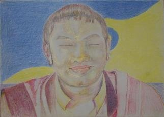 Bryan Patterson; HH 17th Karmapa, 2005, Original Drawing Pencil, 8 x 11 inches. Artwork description: 241 His Holiness the 17th Karmapa. ...