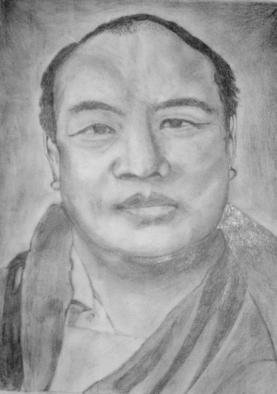 Bryan Patterson; H H 16th Karmapa, 2005, Original Drawing Pencil, 8 x 11 inches. Artwork description: 241 No. 2 pencil drawing rendition of His Holiness the 16th Karmapa....