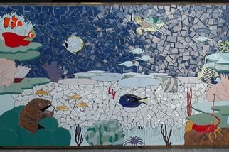 Joseph Caputo; Nemos World, 2007, Original Mosaic, 45 x 25 inches. Artwork description: 241  scene from a  reef , grouted an d set, wall hanging...
