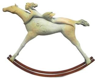 Carolina Rodriguez; Rocing Horse, 2013, Original Sculpture Bronze, 20 x 18 inches.