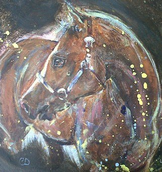 Caroline Dilworth; American Quarter Horse My..., 2011, Original Painting Acrylic, 11.7 x 16 inches. Artwork description: 241   Standing at Stud at Summerhill Stud in South Lanarkshire, Scotland, Mac is a very handsome American Quarter Horse.Western Riding. ...