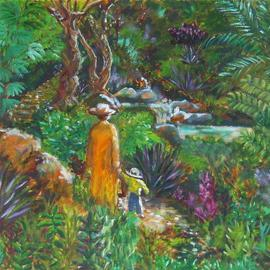 Caroline Macdonald, , , Original Painting Oil, size_width{Riverside_Walk-1091871934.jpg} X 18 inches