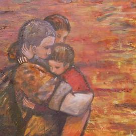 Caroline Macdonald, , , Original Painting Oil, size_width{Soldier_Returns-1091952955.jpg} X 26 inches