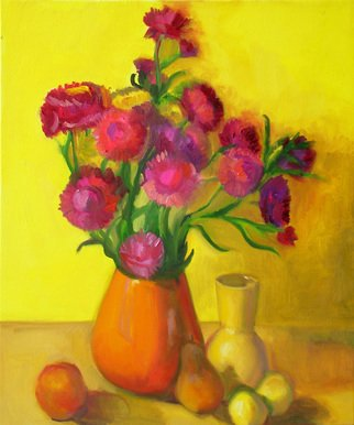 Carol Steinberg; Straw Flowers Yellow, 2010, Original Painting Oil, 20 x 24 inches. Artwork description: 241  flowers floral yellow still ...