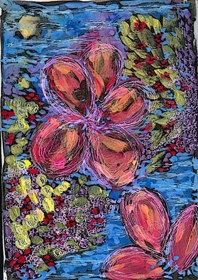 Carol Stephen; Flowers, 2008, Original Painting Other, 15 x 20 cm.