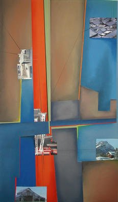 Christian Culver; Divergent Paths 1, 2003, Original Pastel, 36 x 42 inches. Artwork description: 241 Pastel with architectural photographs.Very detailed colorful composition....